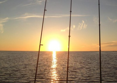 fishing-pole-sunset